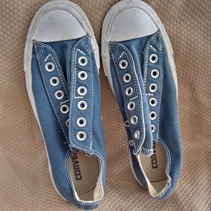 Tennis shoes blue converse